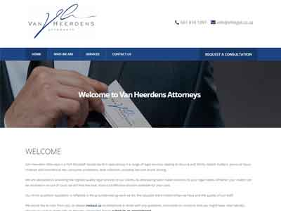 Van Heerdens Attorneys homepage