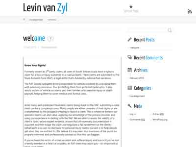 Levin van Zyl Incorporated homepage
