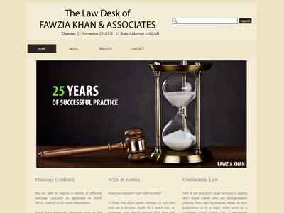Fawzia Khan & Associates homepage